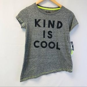 Kind Is Cool Girl's Graphic Tee Shirt Sz Large NWT
